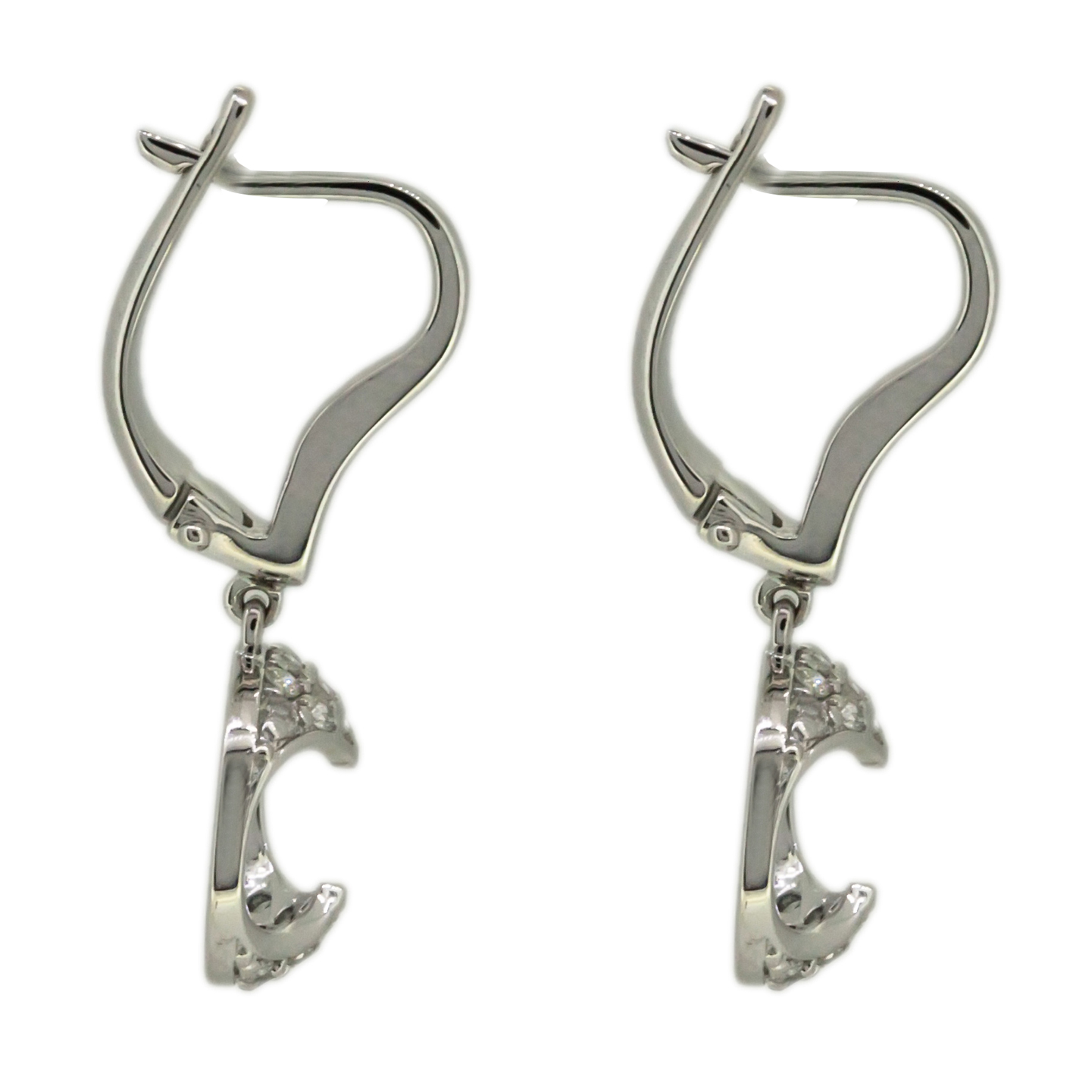 s curve shape ebay exquisite plated wire p dangle gold white earrings twist threader