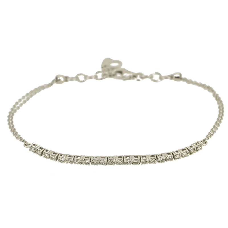 tw tennis clasped white brilliant ct gold diamond earth bracelet