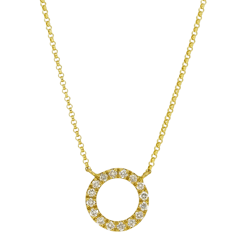 Diamond circle of love necklace in 18k yellow gold tala jewellery diamond circle of love necklace in 18k yellow gold 3 aloadofball Choice Image